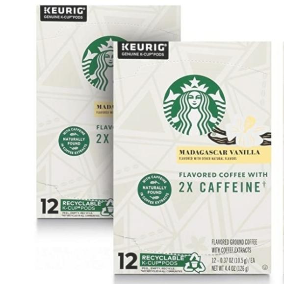 22K-Cups Starbucks 2X Cafeine Madagascar Vanilla